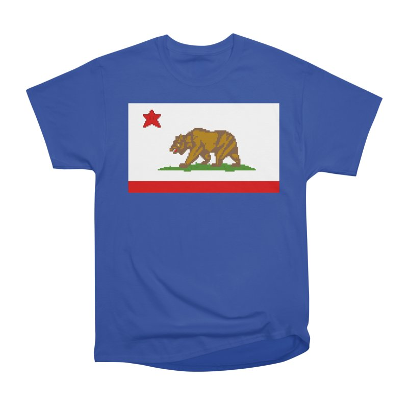 California Pixel Flag Men's T-Shirt by Mario Maps