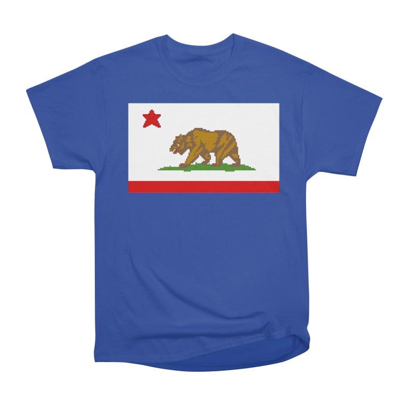 California Pixel Flag Men's Classic T-Shirt by Mario Maps