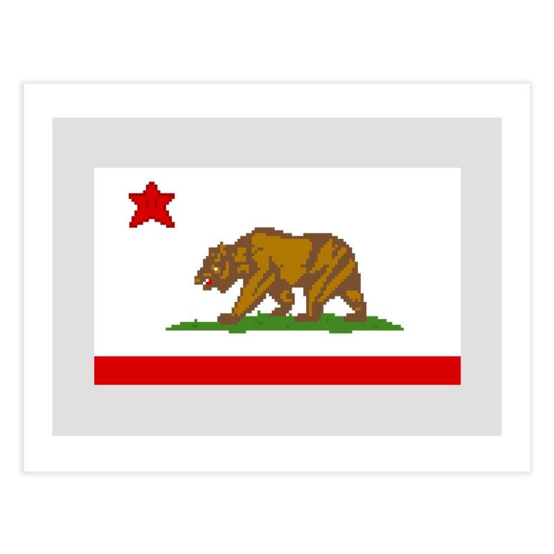 California Pixel Flag Home Fine Art Print by Mario Maps