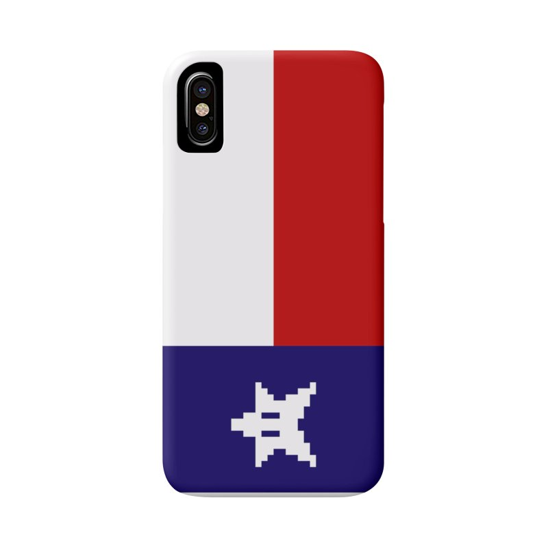 Texas Pixel Flag Accessories Phone Case by Mario Maps