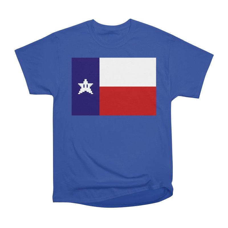 Texas Pixel Flag Men's T-Shirt by Mario Maps