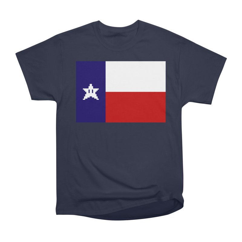Texas Pixel Flag Women's Heavyweight Unisex T-Shirt by Mario Maps