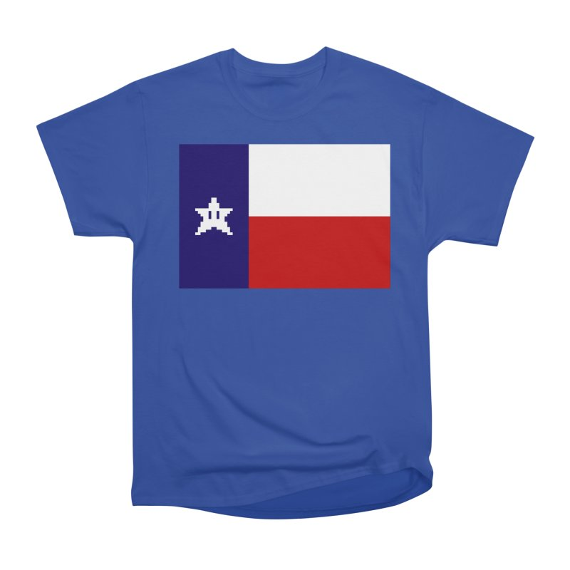 Texas Pixel Flag Men's Heavyweight T-Shirt by Mario Maps