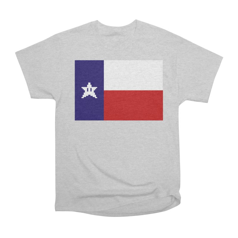Texas Pixel Flag Men's Heavyweight T-Shirt by Mario Maps