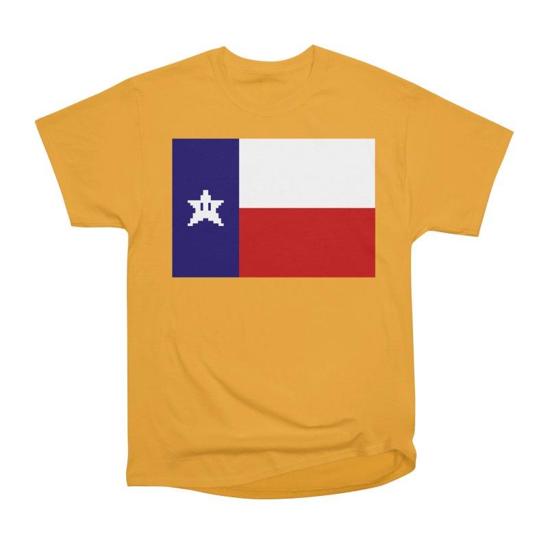 Texas Pixel Flag Women's Heavyweight Unisex T-Shirt by Mario Maps