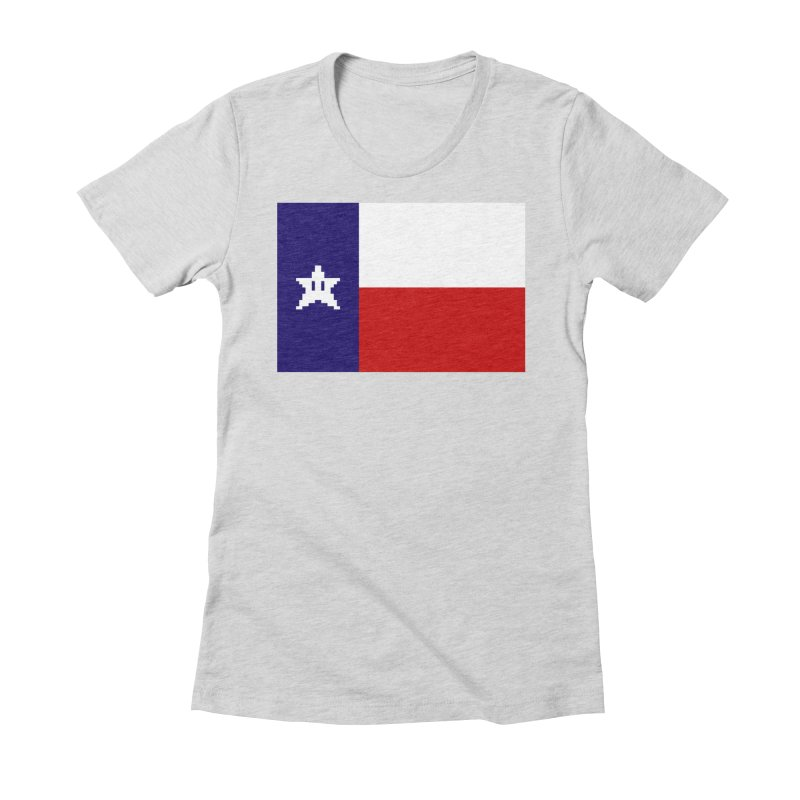 Texas Pixel Flag Women's Fitted T-Shirt by Mario Maps