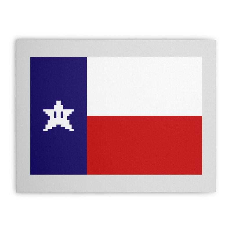 Texas Pixel Flag Home Stretched Canvas by Mario Maps