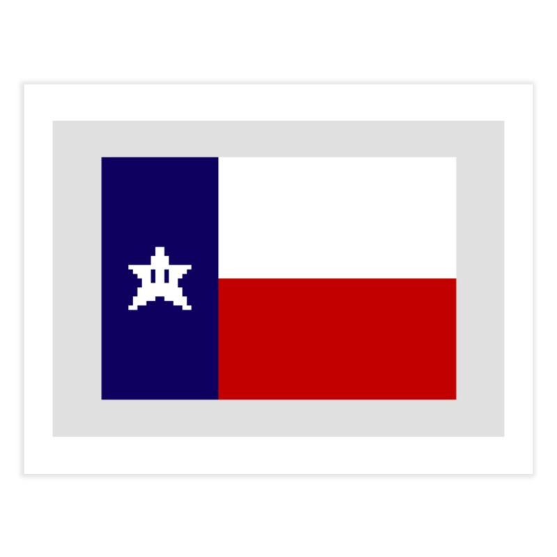 Texas Pixel Flag Home Fine Art Print by Mario Maps