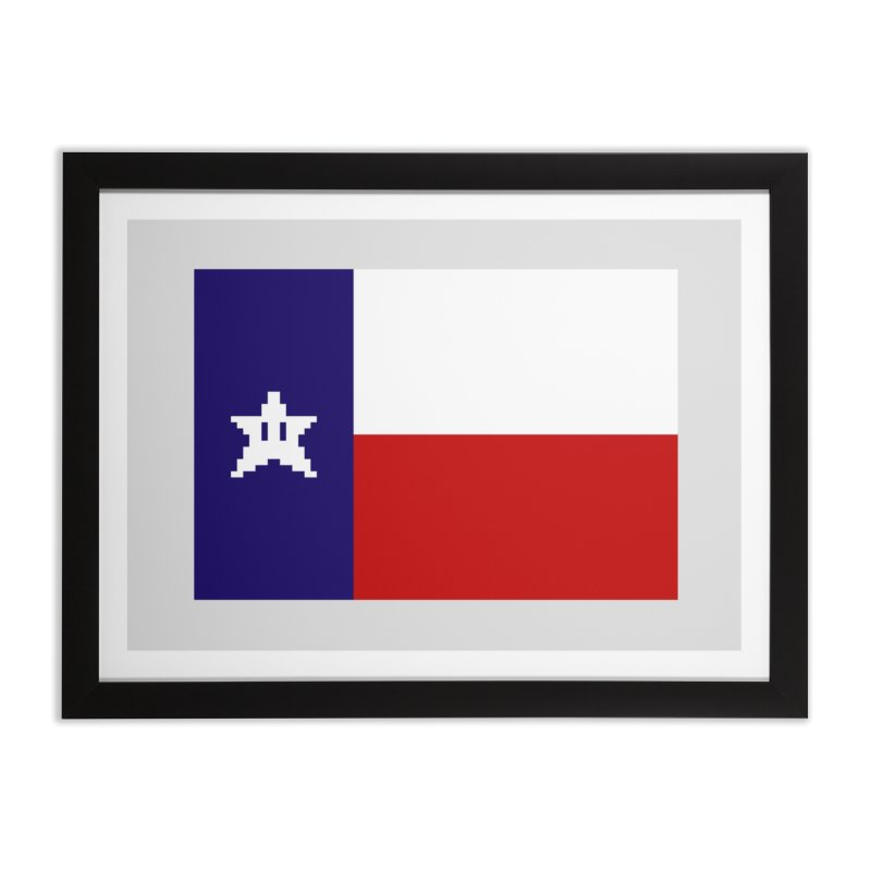 Texas Pixel Flag Home Framed Fine Art Print by Mario Maps