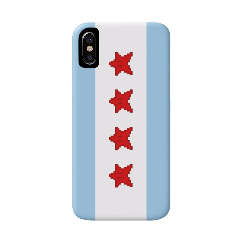 Chicago Pixel Flag Accessories Phone Case by Mario Maps