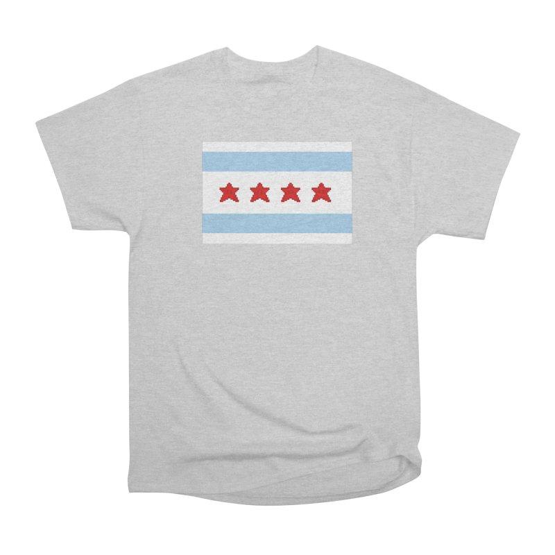 Chicago Pixel Flag Women's Classic Unisex T-Shirt by Mario Maps