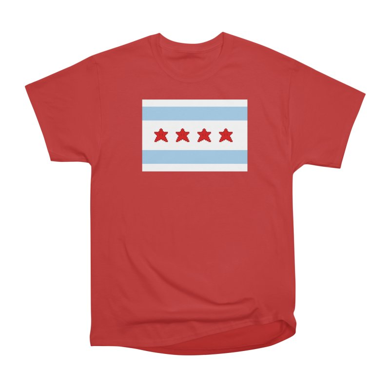 Chicago Pixel Flag Men's Classic T-Shirt by Mario Maps