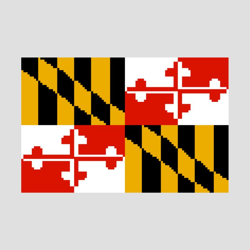 Maryland Pixel Flag Accessories Phone Case by Mario Maps