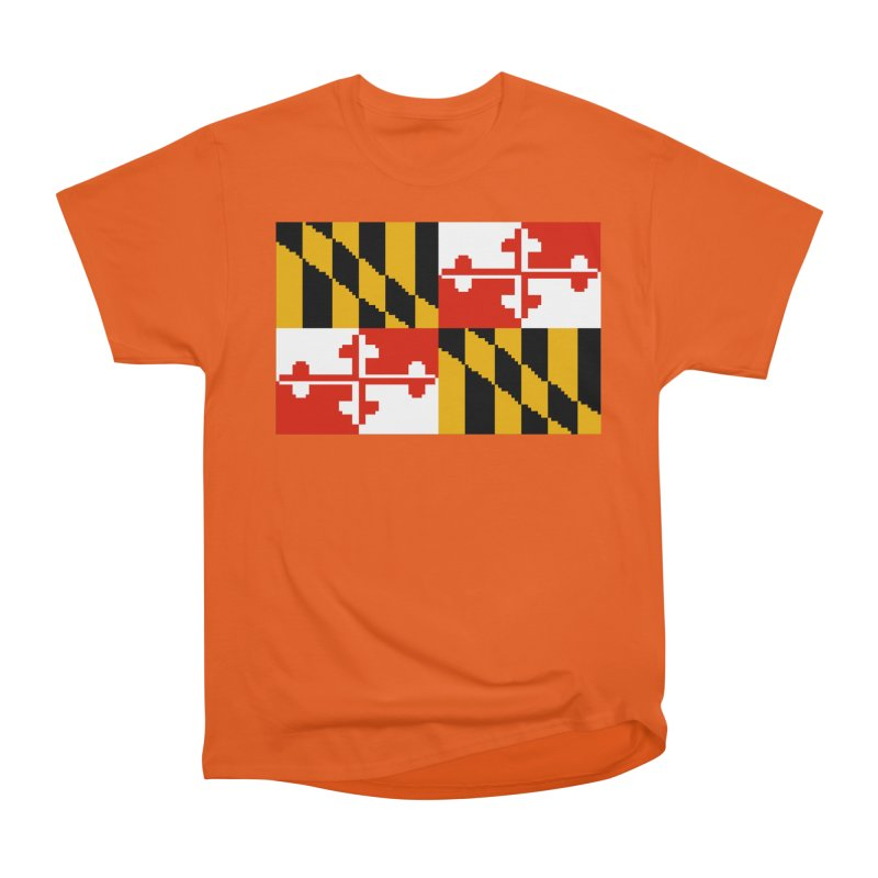 Maryland Pixel Flag Men's T-Shirt by Mario Maps