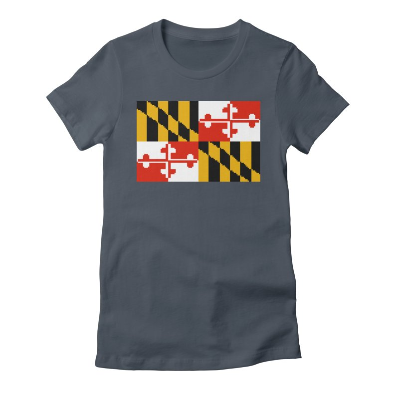 Maryland Pixel Flag Women's T-Shirt by Bits By Bacon