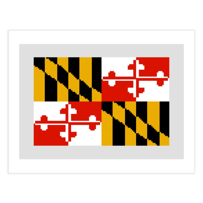 Maryland Pixel Flag Home Fine Art Print by Mario Maps