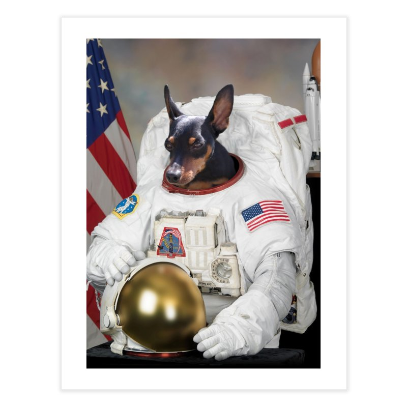 Pet Astronauts (Dog) Home Fine Art Print by Mario Maps