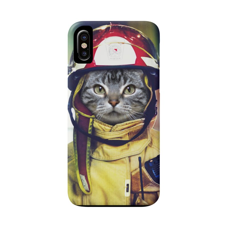 Cat Firefighter Accessories Phone Case by Mario Maps
