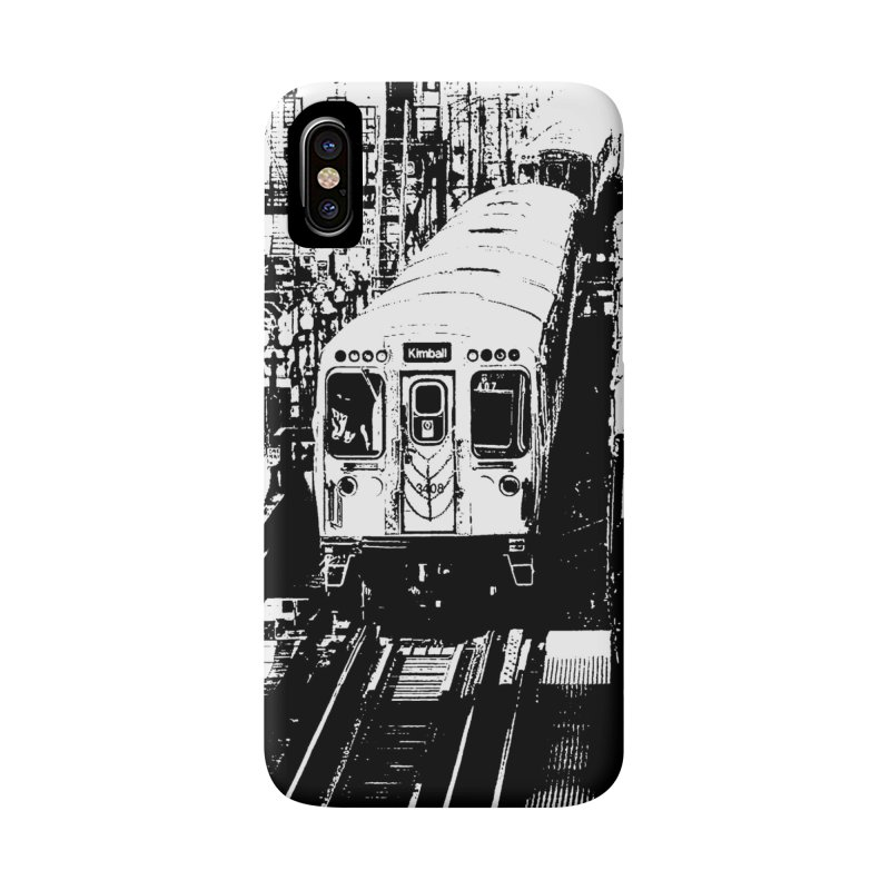 Chicago Trains Loop Accessories Phone Case by Mario Maps