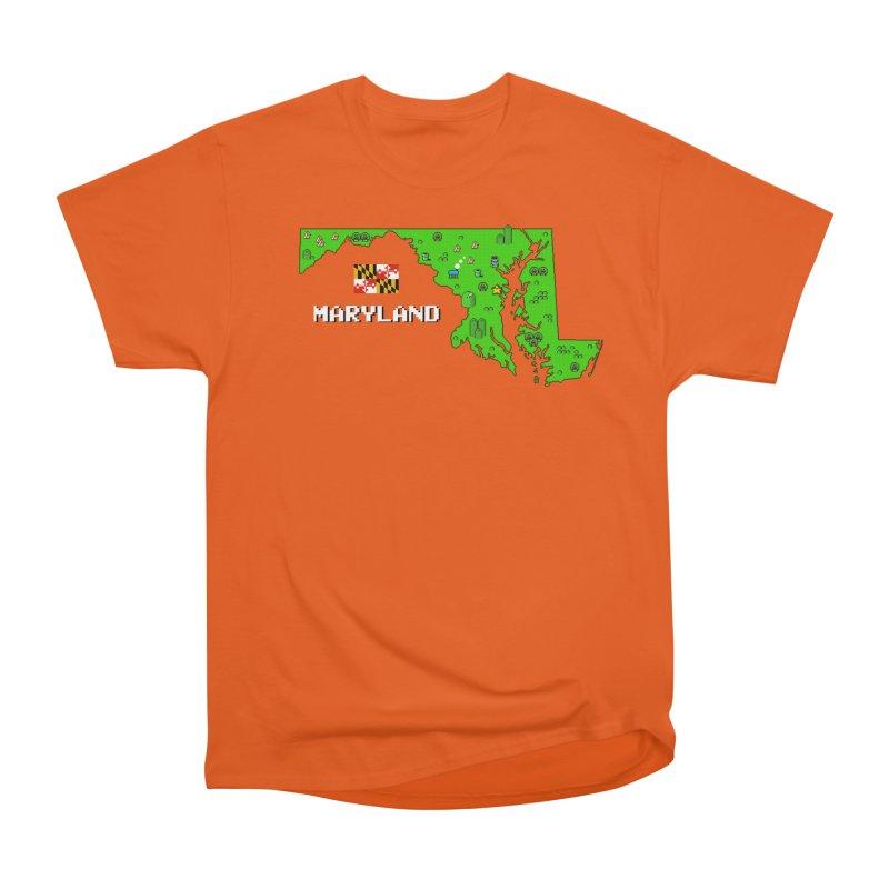 Maryland Super Mario World Men's T-Shirt by Mario Maps