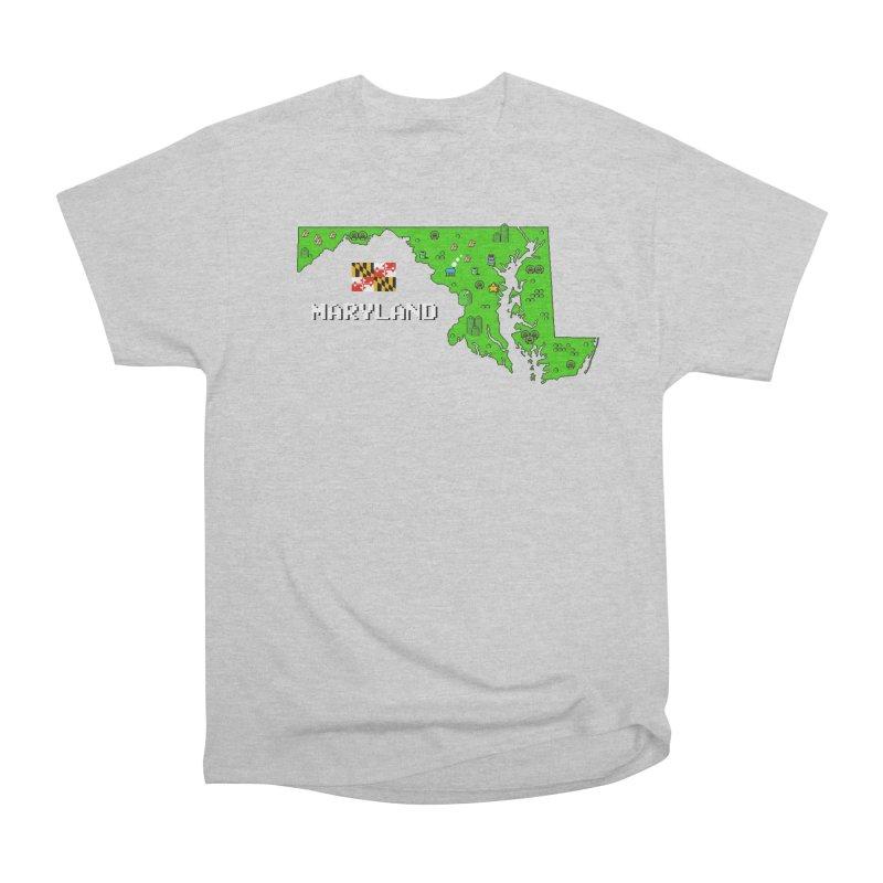 Maryland Super Mario World Women's Heavyweight Unisex T-Shirt by Mario Maps