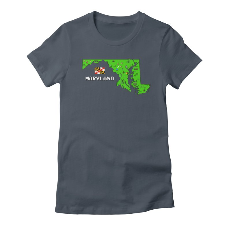 Maryland Super Mario World Women's T-Shirt by Bits By Bacon