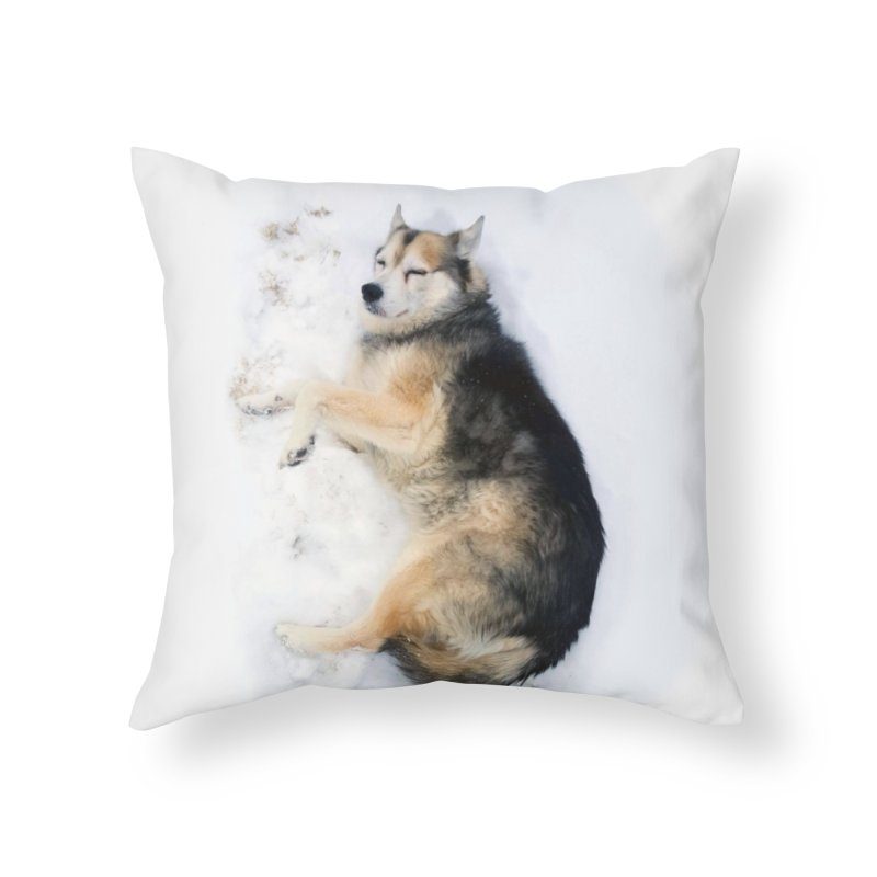 Snow Dawg Home Throw Pillow by Mario Maps