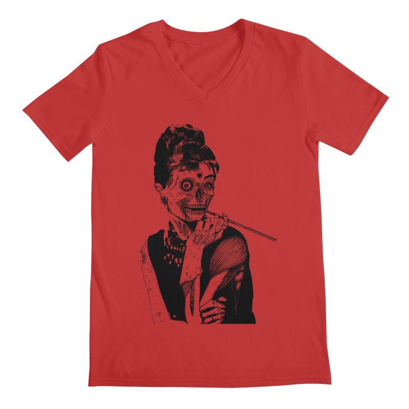 Zombie at Tiffany's Men's V-Neck by marioncromb's Artist Shop
