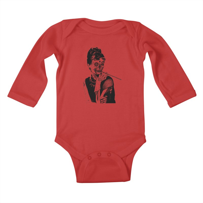 Zombie at Tiffany's Kids Baby Longsleeve Bodysuit by marioncromb's Artist Shop