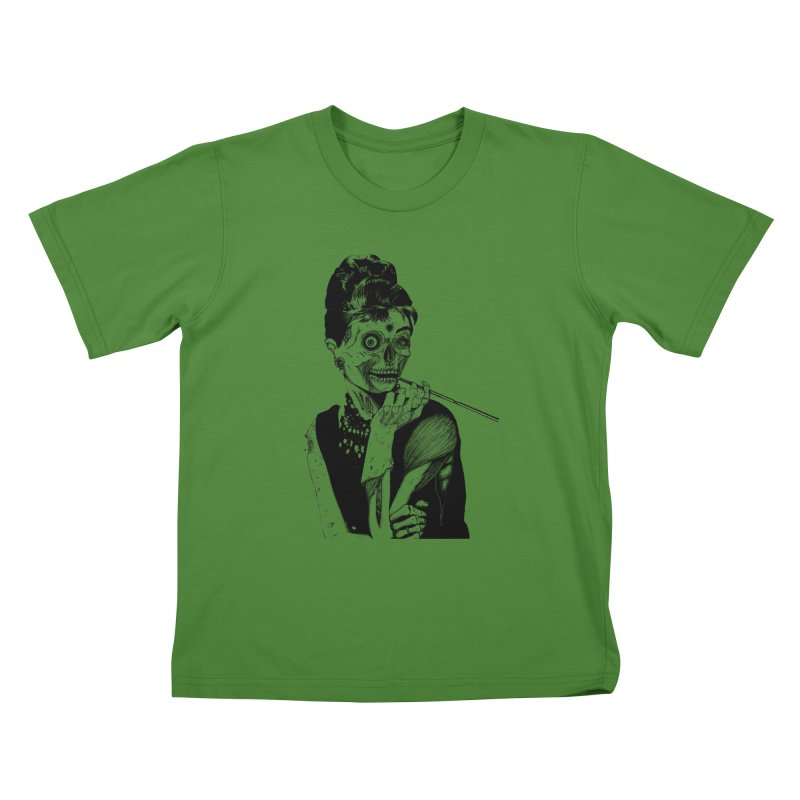 Zombie at Tiffany's Kids T-shirt by marioncromb's Artist Shop