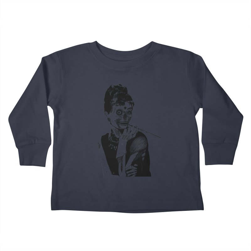 Zombie at Tiffany's Kids Toddler Longsleeve T-Shirt by marioncromb's Artist Shop