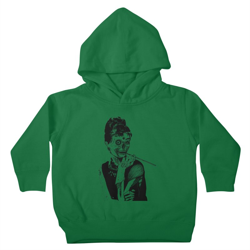Zombie at Tiffany's Kids Toddler Pullover Hoody by marioncromb's Artist Shop