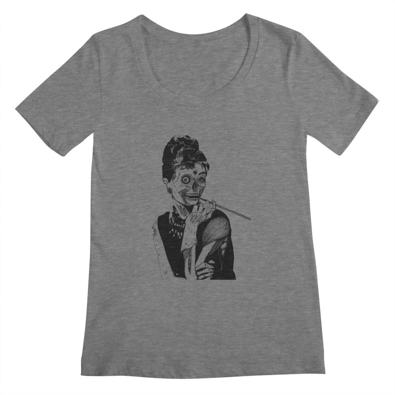 Zombie at Tiffany's Women's Scoopneck by marioncromb's Artist Shop