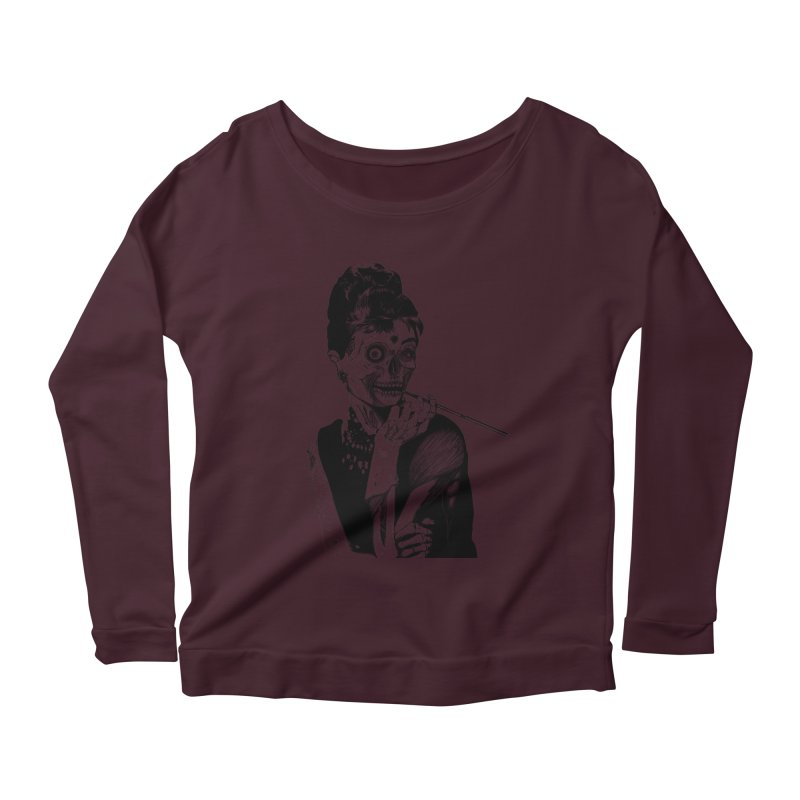 Zombie at Tiffany's Women's Longsleeve Scoopneck  by marioncromb's Artist Shop