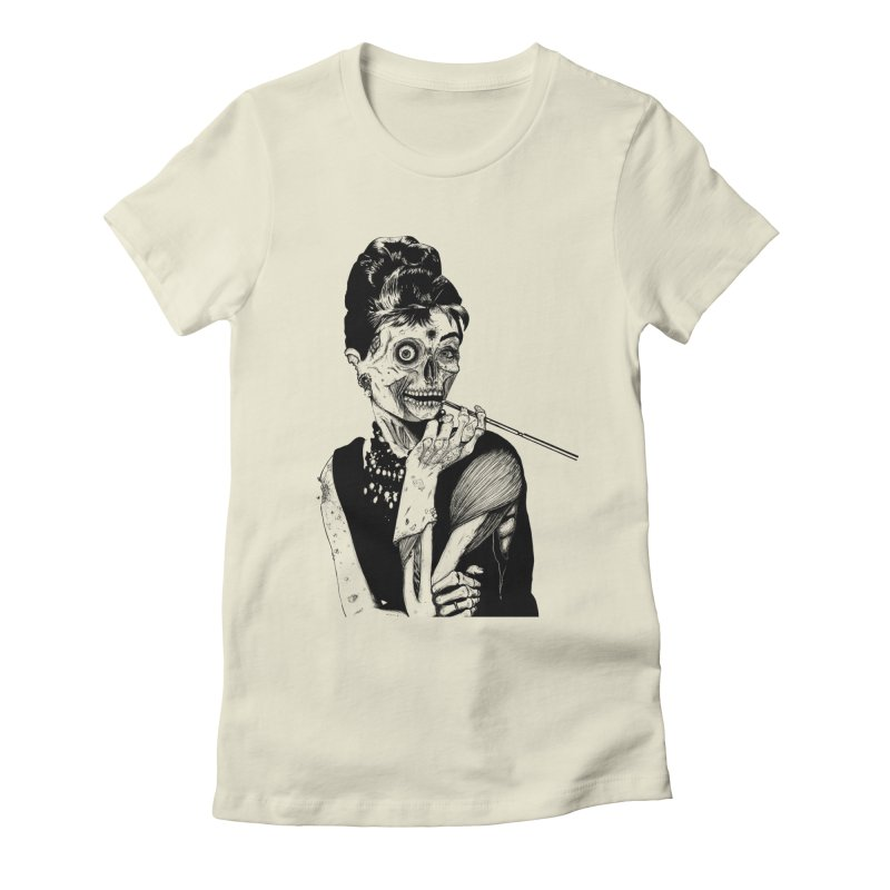 Zombie at Tiffany's Women's Fitted T-Shirt by marioncromb's Artist Shop