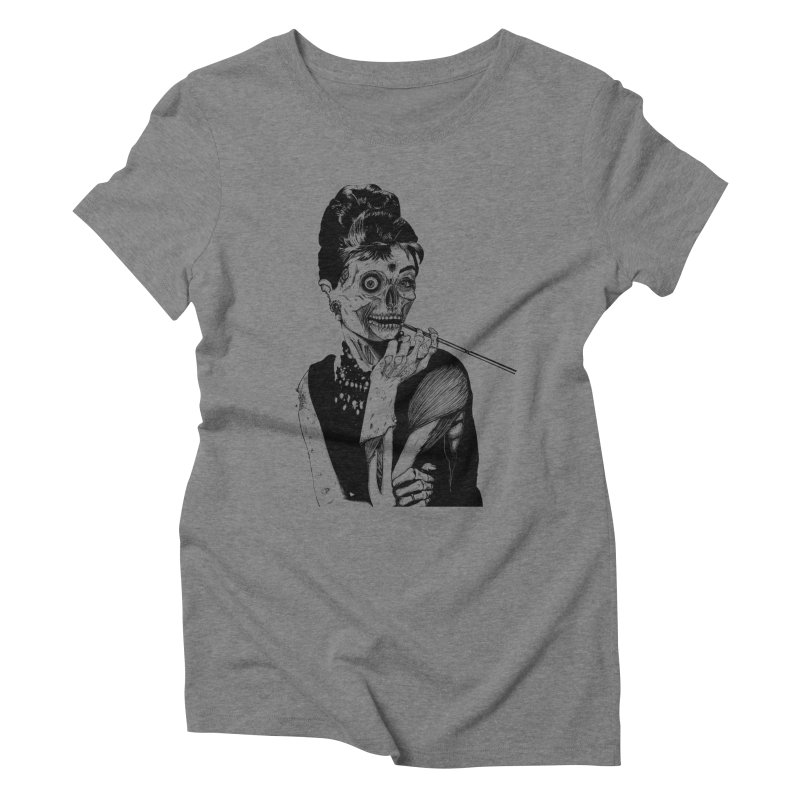 Zombie at Tiffany's Women's Triblend T-Shirt by marioncromb's Artist Shop