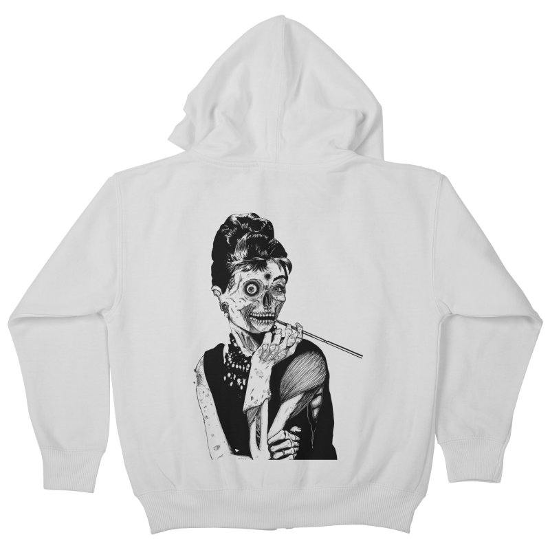 Zombie at Tiffany's Kids Zip-Up Hoody by marioncromb's Artist Shop