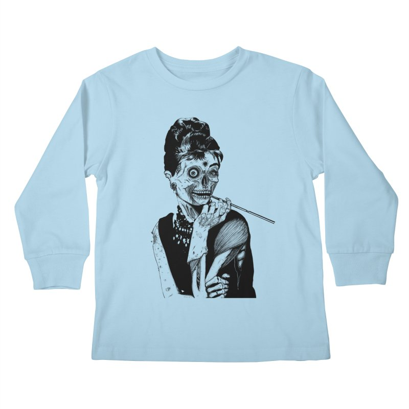 Zombie at Tiffany's Kids Longsleeve T-Shirt by marioncromb's Artist Shop