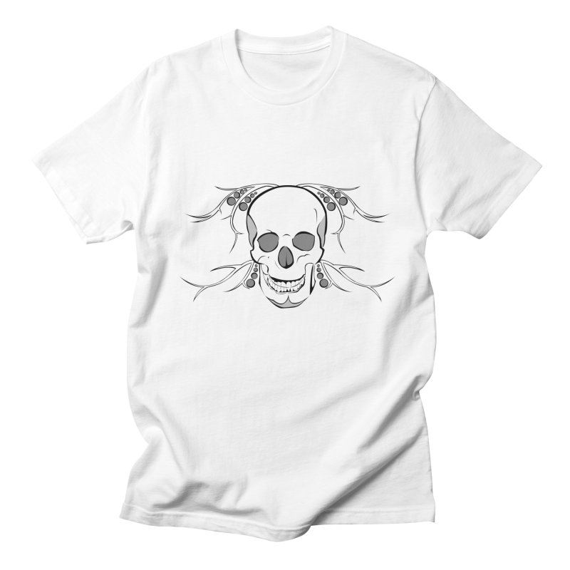 Skull and Thorns in Men's T-shirt White by Dreamspring