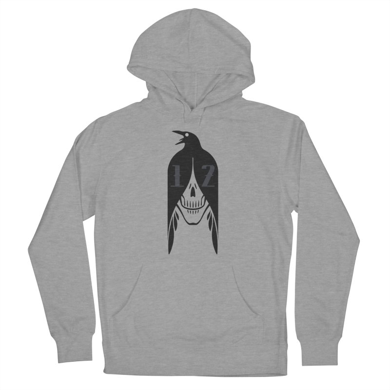 Raven Men's French Terry Pullover Hoody by Mark Gervais