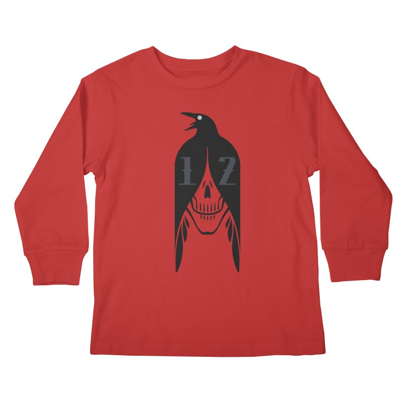 Raven Kids Longsleeve T-Shirt by Mark Gervais