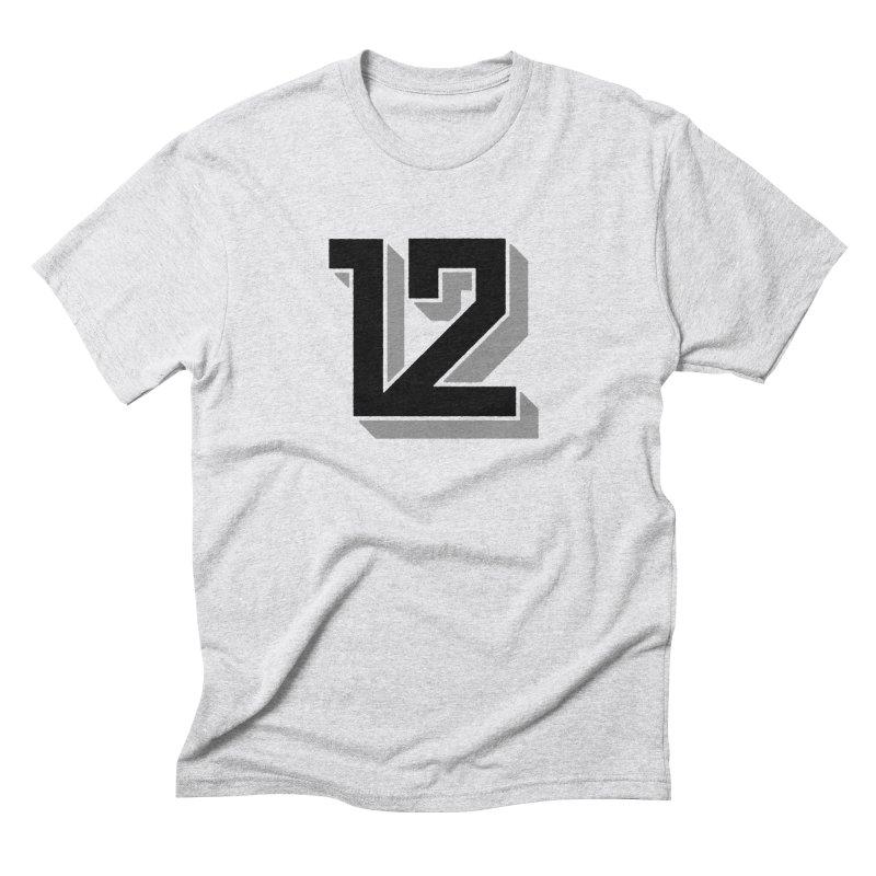 12 Block Men's Triblend T-Shirt by Mark Gervais