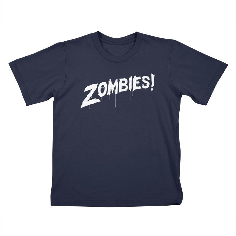 Zombies! Kids T-shirt by Mark Gervais