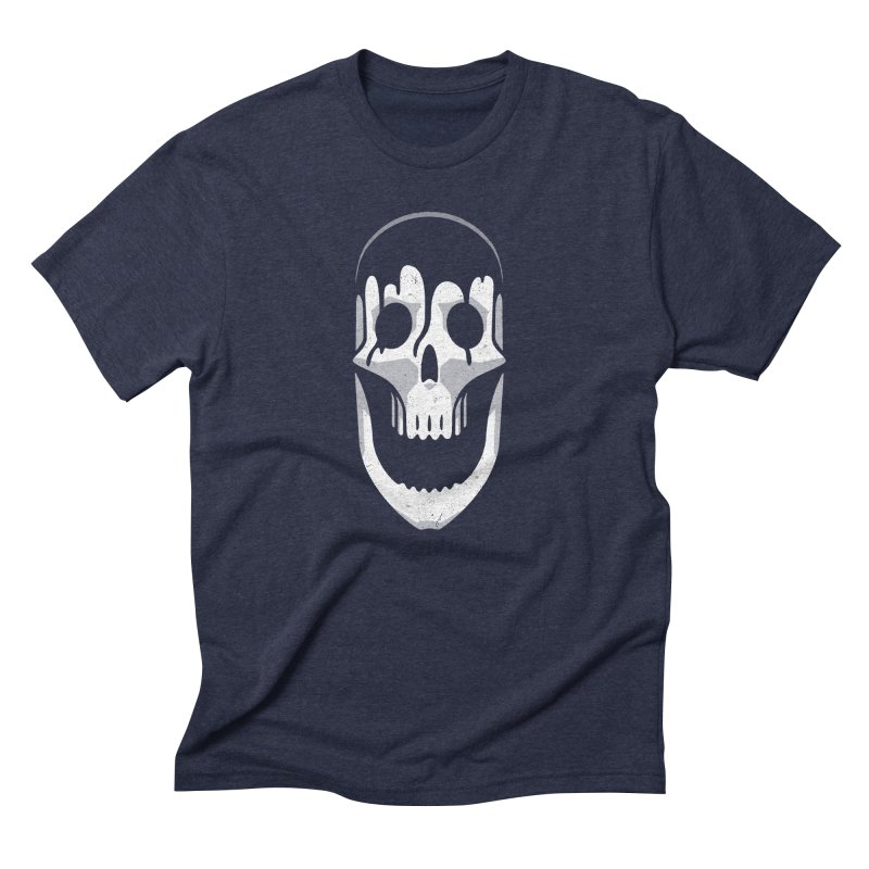 Vacant Skull Men's Triblend T-Shirt by Mark Gervais