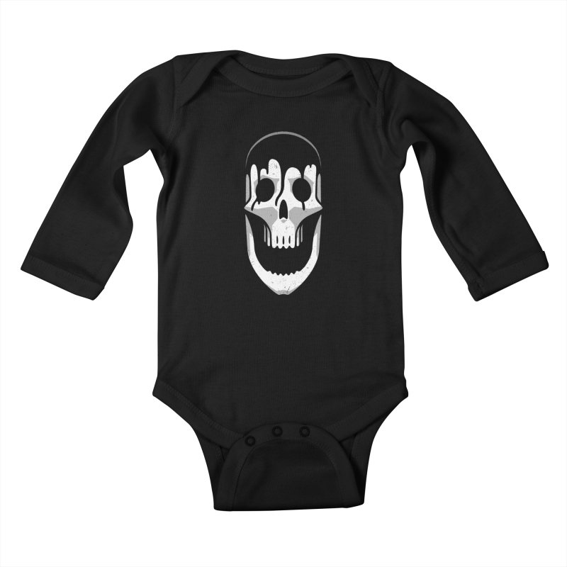 Vacant Skull Kids Baby Longsleeve Bodysuit by Mark Gervais