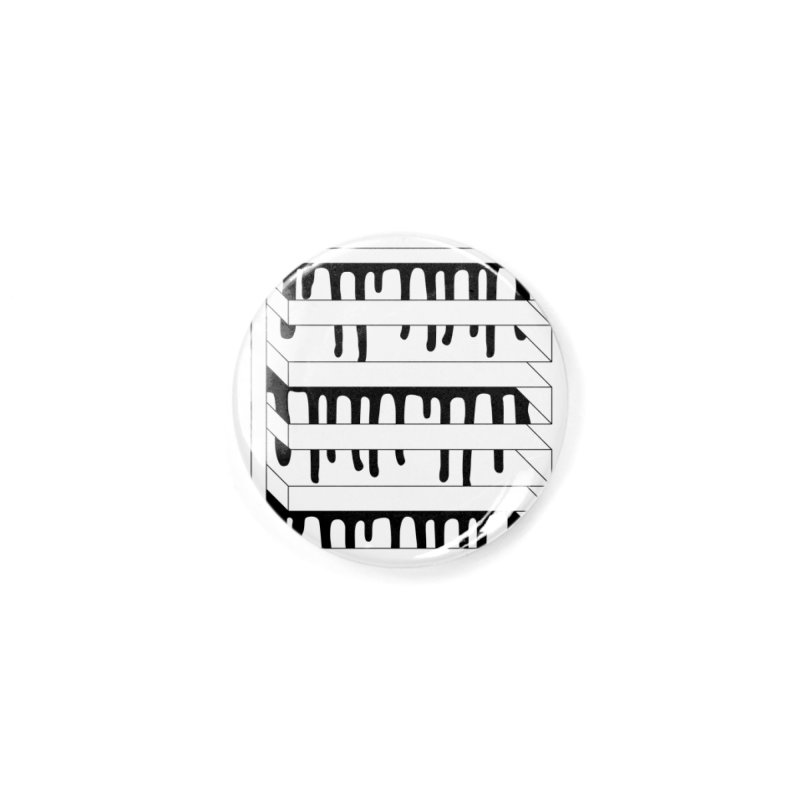 Abstracted Geometric Graphic - Impossible Square Accessories Button by Mark LaPoint's Artist Shop