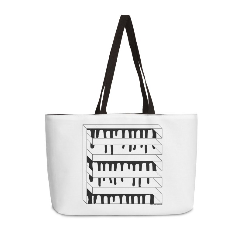 Abstracted Geometric Graphic - Impossible Square Accessories Bag by Mark LaPoint's Artist Shop