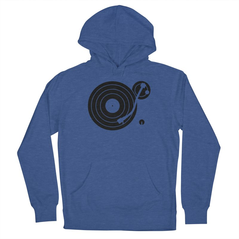 Turntable Record Player Graphic Men's Pullover Hoody by Mark LaPoint's Artist Shop