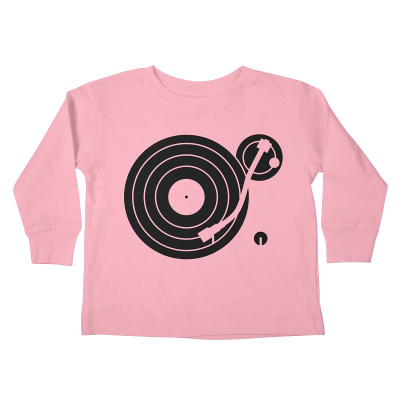 Turntable Record Player Graphic Kids Toddler Longsleeve T-Shirt by Mark LaPoint's Artist Shop