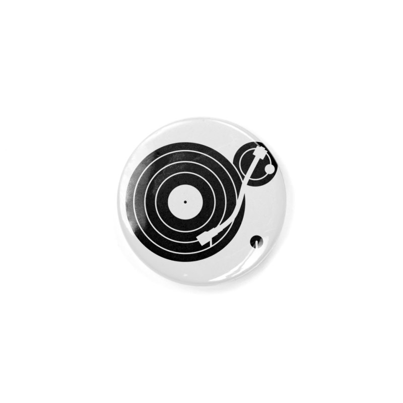 Turntable Record Player Graphic Accessories Button by Mark LaPoint's Artist Shop